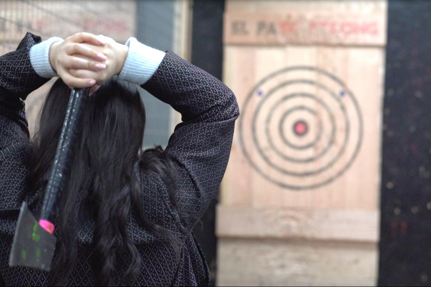 Relaxe offers a new way of relaxing — axe throwing!