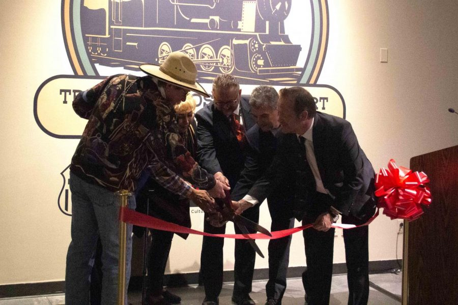 The red ribbon for the inauguration of the exhibit was cut by museum officials at the El Paso Museum of History on Jan. 23.