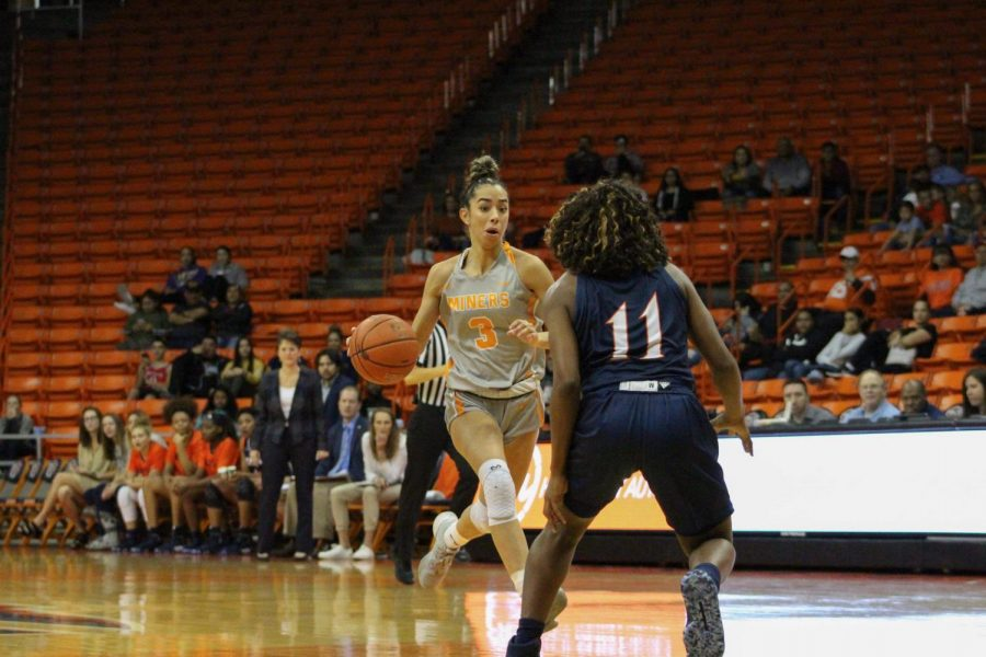 UTEP+freshman+guard+Katia+Gallegos+leads+Conference-USA+in+assists+per+game+with+five.+