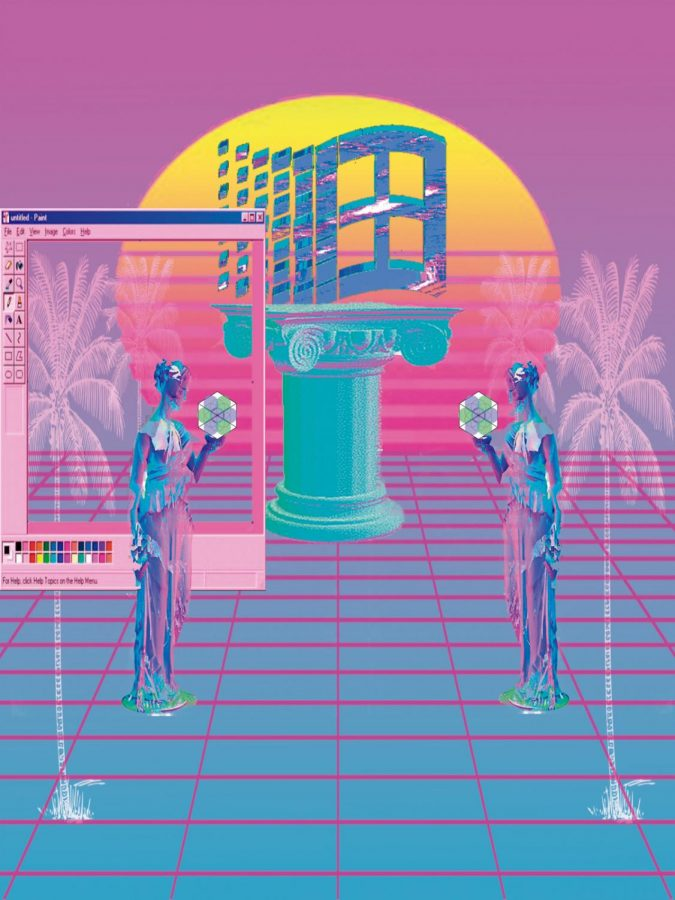 Vaporwave+is+an+Internet-based+microgenre+that+was+built+upon+the+experimental+and+ironic+tendencies+of+genres+such+as+chillwave+and+hypnagogic+pop.