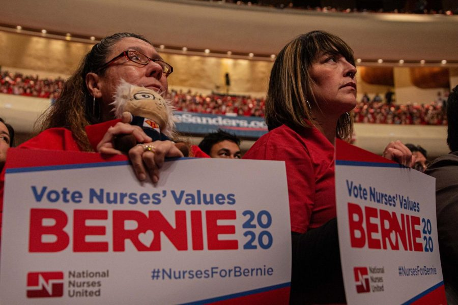 Bernie+Sanders+supporters+at+his+Presidential+Campaign+rally+at+Abraham+Chavez+Theater+Saturday+Feb.+22%2C+2019.