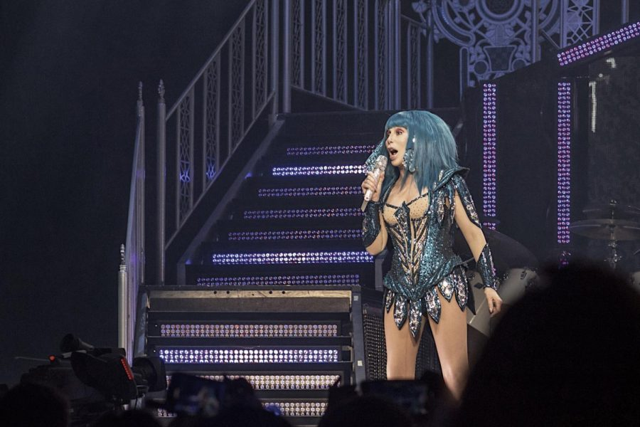 The Here We Go Again Tour is Cher's seventh solo concert tour in support of her 26th studio album Dancing Queen.