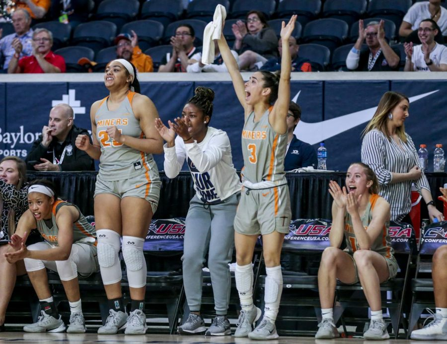 The+UTEP+women%27s+basketball+team+defeated+Florida+Atlantic+University+97-65+in+the+first+round+of+the+C-USA+tournament+in+Frisco%2C+Texas.
