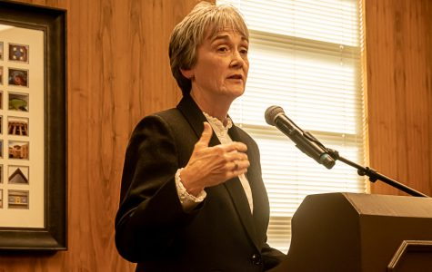 UTEP President Heather Wilson announced the university will prolong spring break for a week and shift classes to online for the remainder of the semester starting March 30 in a Friday, March 13, press conference.