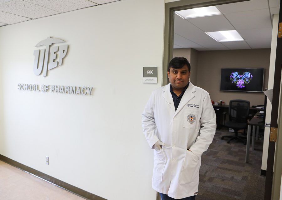 Suman Sirimulla, Ph.D., assistant professor of pharmaceutical sciences at UTEP, is leading a group of experimental researchers to virtually develop the molecular structure of a protease inhibitor that would target the coronavirus, which causes COVID-19.