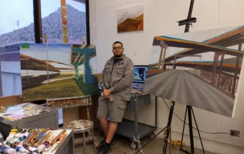 """""""A profession in the arts has always been discouraged by others, and some people do listen and branch off to other professions and I think if they ever wonder, what if they hadn't listened to everyone else?"""" said Vicente Delgado, a UTEP senior graduating with a double major in printmaking and painting."""