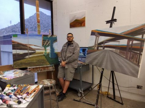 """A profession in the arts has always been discouraged by others, and some people do listen and branch off to other professions and I think if they ever wonder, what if they hadn't listened to everyone else?"" said Vicente Delgado, a UTEP senior graduating with a double major in printmaking and painting."