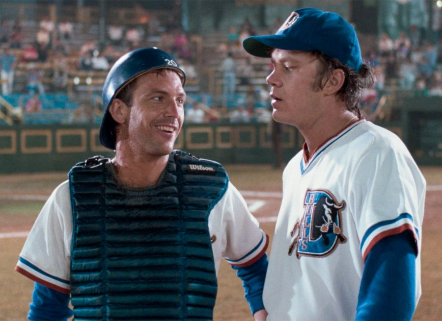 Kevin+Costner+and+Tim+Robbins+star+in+the+1988+baseball+film+Bull+Durham.