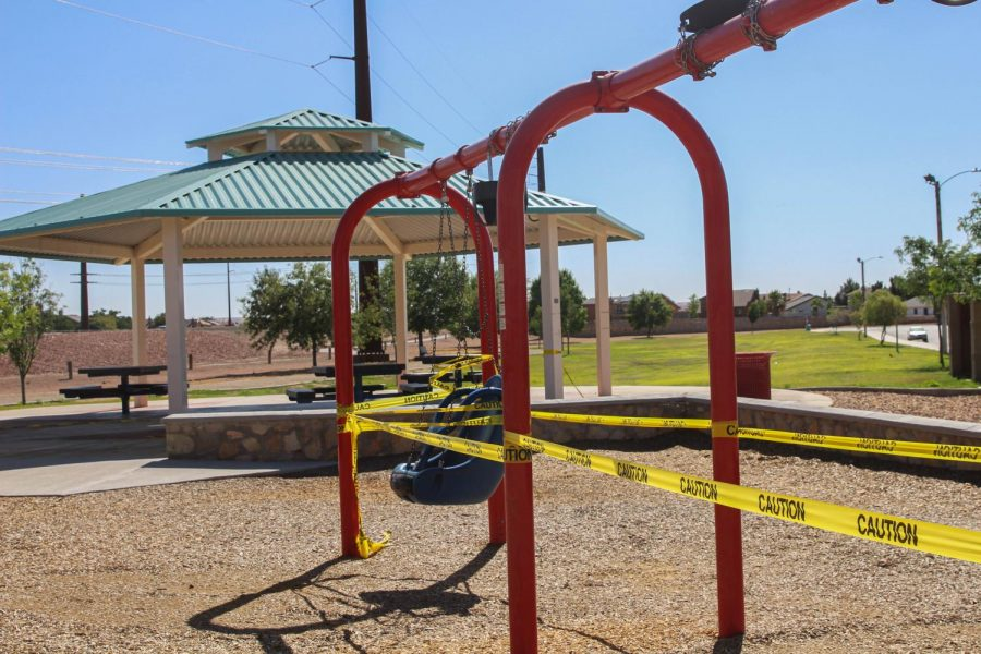 City and  state parks reopened Monday June 8, playground equipment is still of limits until further notice.