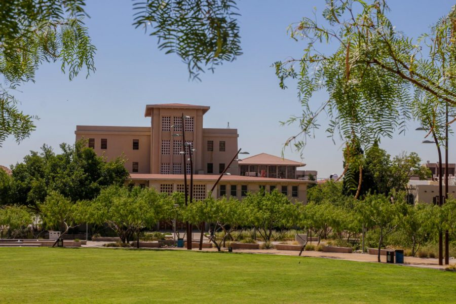 UTEP's administration building.
