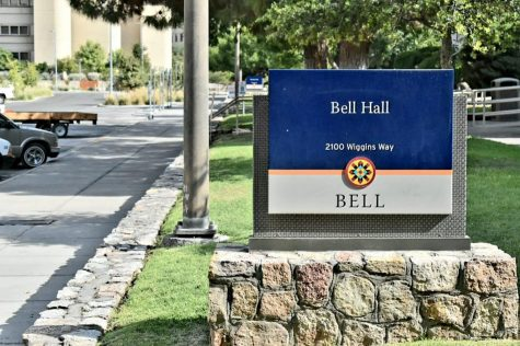 Bell Hall houses the Department of Mathematical Sciences.