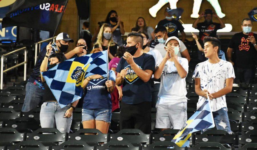 EL Paso fans cheer on the Locomotive during win over San Antonio Saturday Sept. 12.