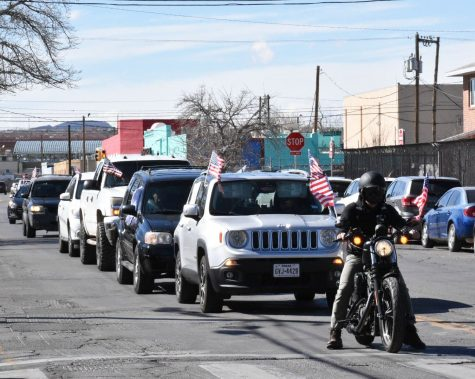 A caravan in support of the inclusive immigration reform and humane border policies, drives across El Paso on Saturday, Jan. 23, 2021.
