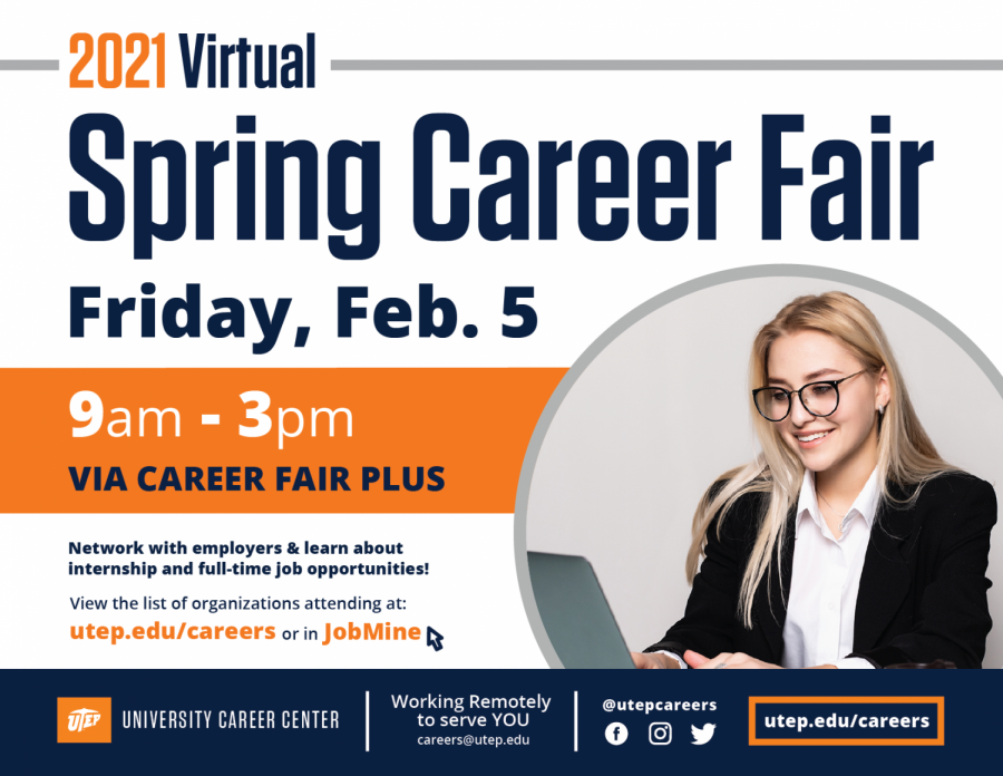 UTEP set to host virtual spring career fair