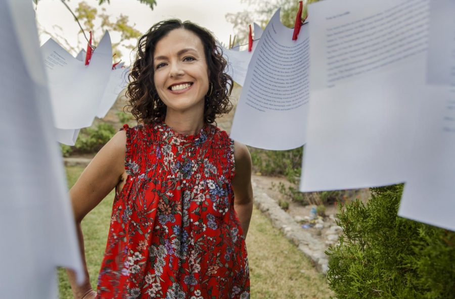 Two professors of UTEP's Bilingual MFA in Creative Writing Department chose to guest edit worldwide poetry series for March and September 2021. Pictured Above is Rosa Alcalá, Ph.D.