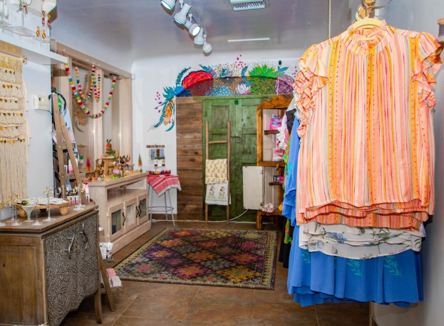 Dos Femmes is a local boutique located on Doniphan. The shop is ran by two sisters who sell woman's clothing, bags, and earrings.