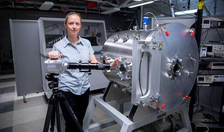 Amelia Greig, Ph.D., assistant professor of mechanical engineering at UTEP, received the prestigious NIAC research funding grant to initiate phase one of her project to expand on lunar research and water collection technologies.