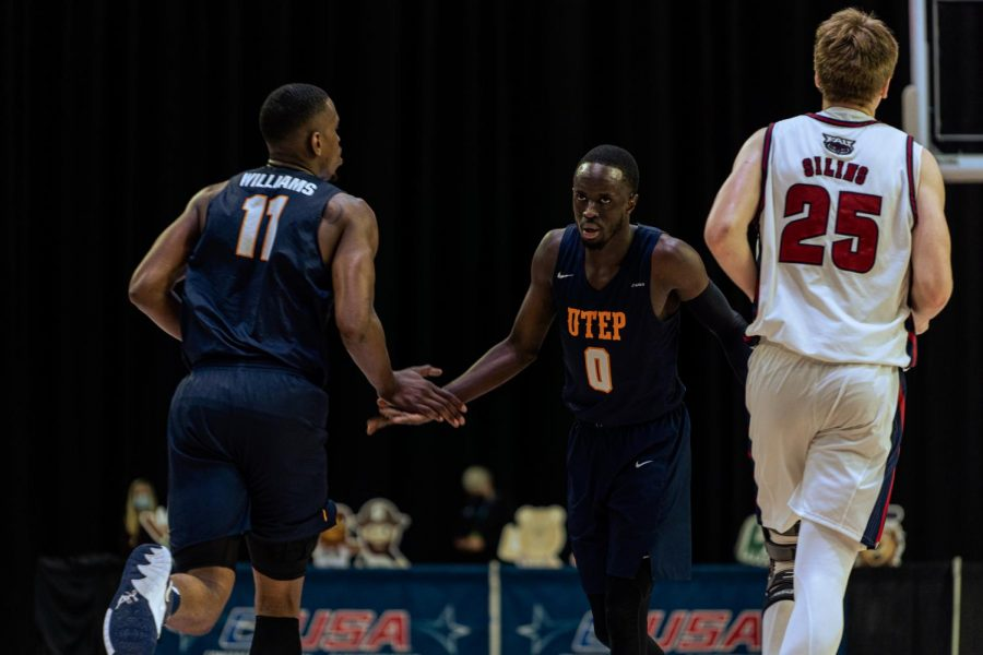 UTEP+senior+Bryson+Williams+and+junior+guard+Souley+Boum+compete+against+the+Florida+Atlantic+Owls+in+the+C-USA+quarterfinals+March+10.