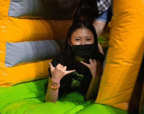 Up All Night included inflatable games for UTEP students to enjoy on May 6.