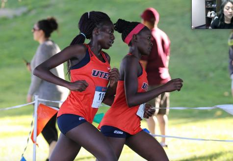UTEP senior Carolyne Chepkosegei runs at Lori Fitzgerald cross country meet in at Chamizal Park in El Paso Sept. 13, 2019.