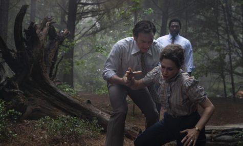 "Vera Farmiga, Patrick Wilson, and Keith Arthur Bolden in ""The Conjuring: The Devil Made Me Do It"" (2021)"