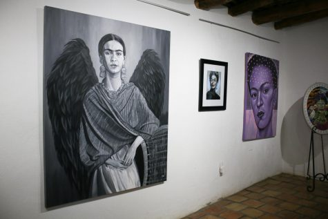Estrada also painted Kahlo as a dark angel, which was intended to represent that she was flawed just like everyone else, according to Estrada.