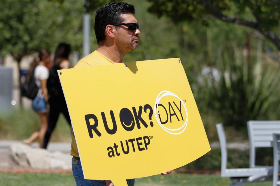 R U OK day booth was set up by the Dean of Students as a way of promoting mental health awareness on September 9 2021
