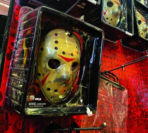 Costumes such as Jason from Friday 13th, are very popular and can be found at Spirit Halloween.