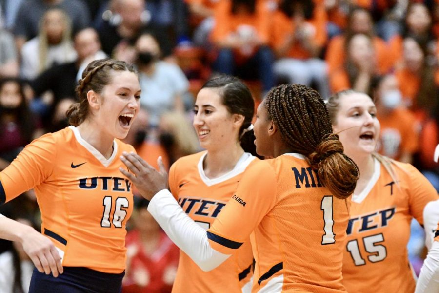 The UTEP Volleyball team notched a second straight sweep against Louisiana Tech  3-0 at Memorial Gym Saturday afternoon.  Photo credit: Ace Acosta