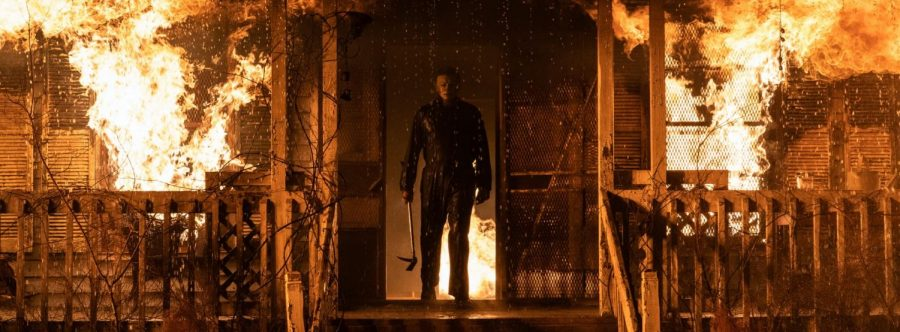 A scene from the movie Halloween Kills. Courtesy of Universal